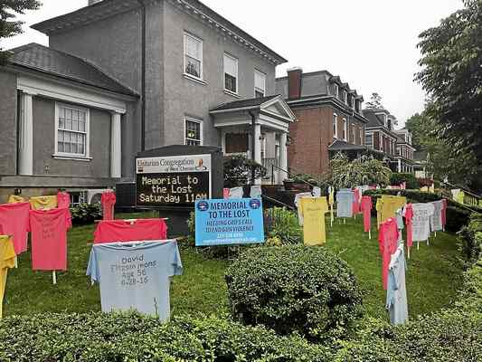 T-shirt graveyard in West Chester a reminder of gun violence