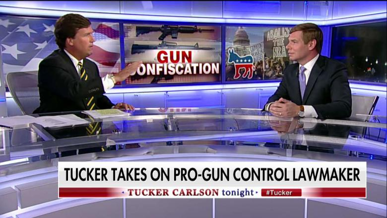 Fiery 'You Wrote That': Tucker Battles CA Dem Calling for Federally Enforced Gun 'Buybacks'