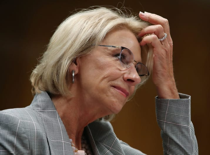 Betsy DeVos Said Trump's School Safety Commission Won't Look At How Guns Contribute To Gun Violence