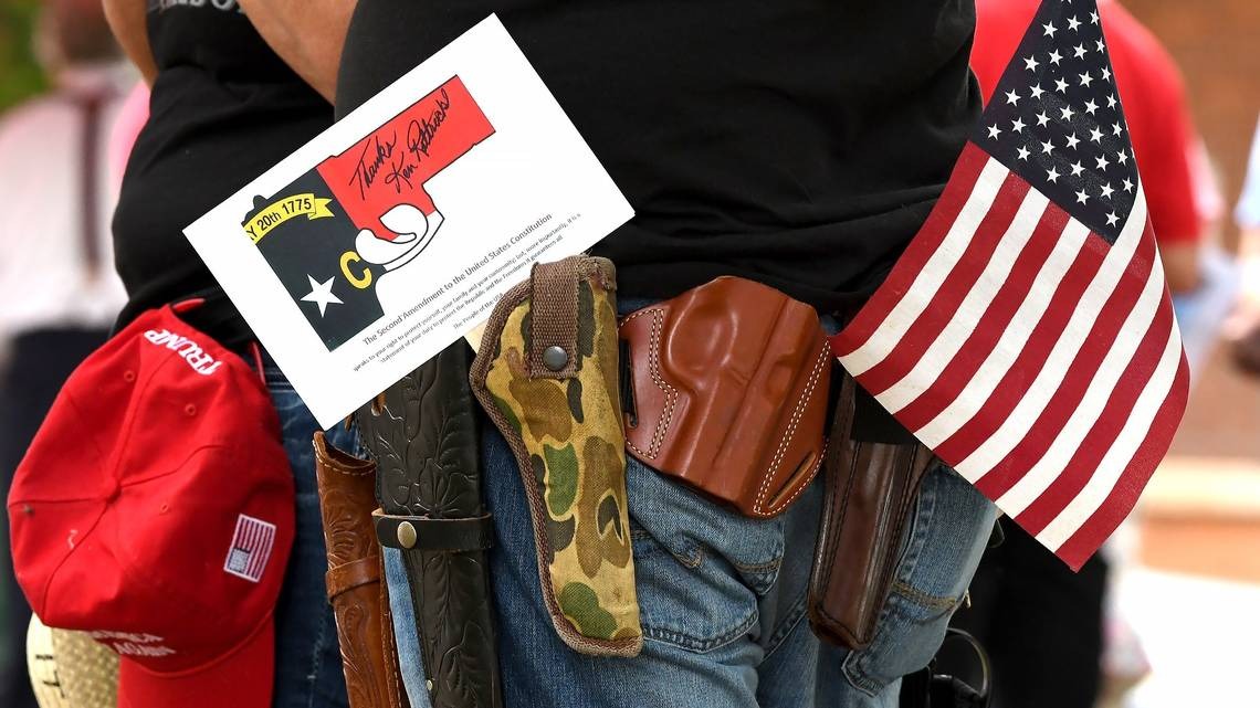 Gun-rights supporters rally in Hillsborough to support Second Amendment