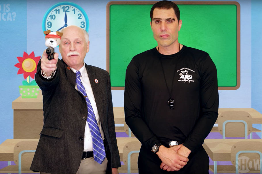 Watch Sacha Baron Cohen Dupe Gun Lobby in 'Who Is America?' Clip