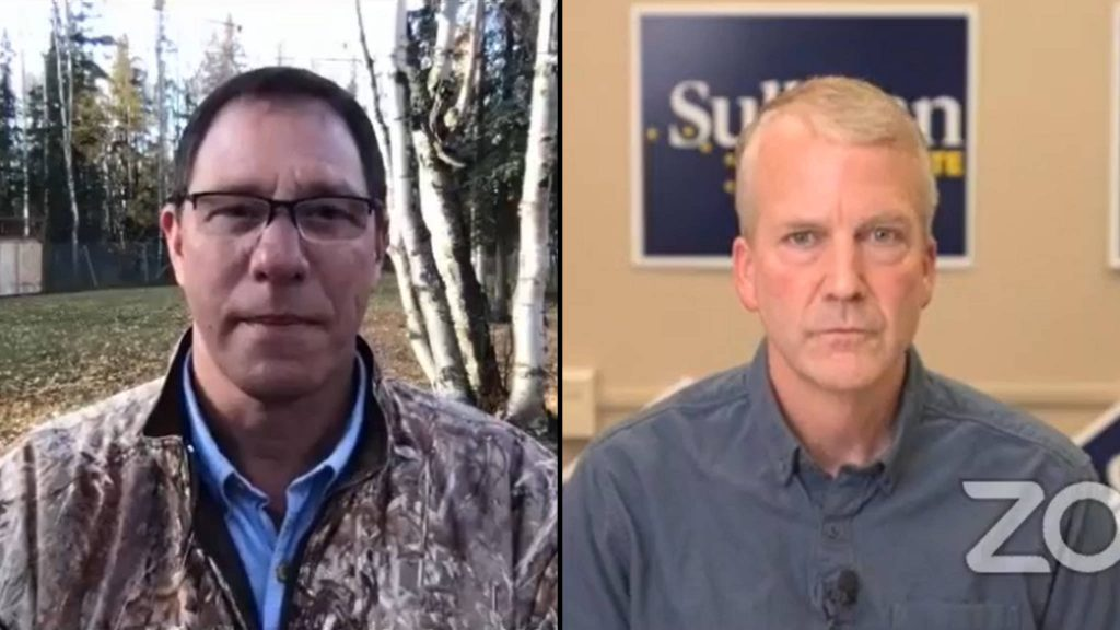 Al Gross and Sen. Dan Sullivan face off on fisheries in U.S. Senate debate