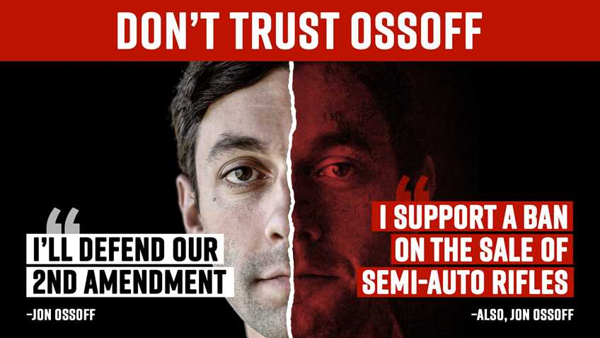 John Ossoff is LYING About His Anti-Second Amendment Positions