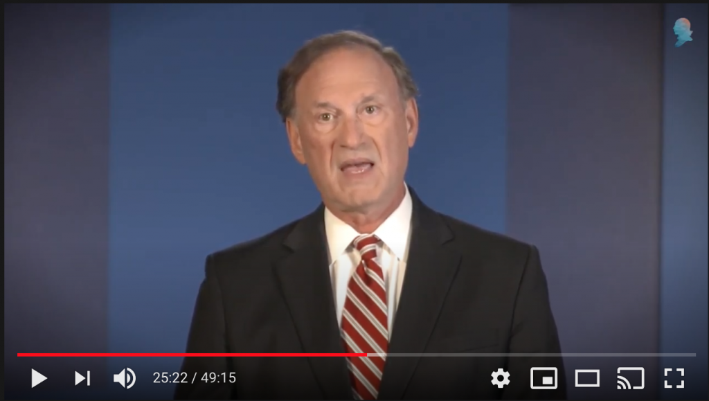 At Federalist Society convention, Alito says religious liberty, gun ownership are under attack